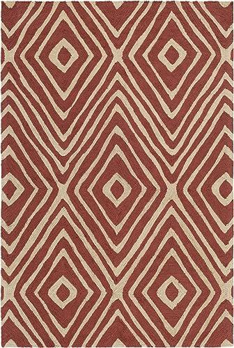 Artistic Weavers Congo Ella Rug, Red, 7 6 x 9 6