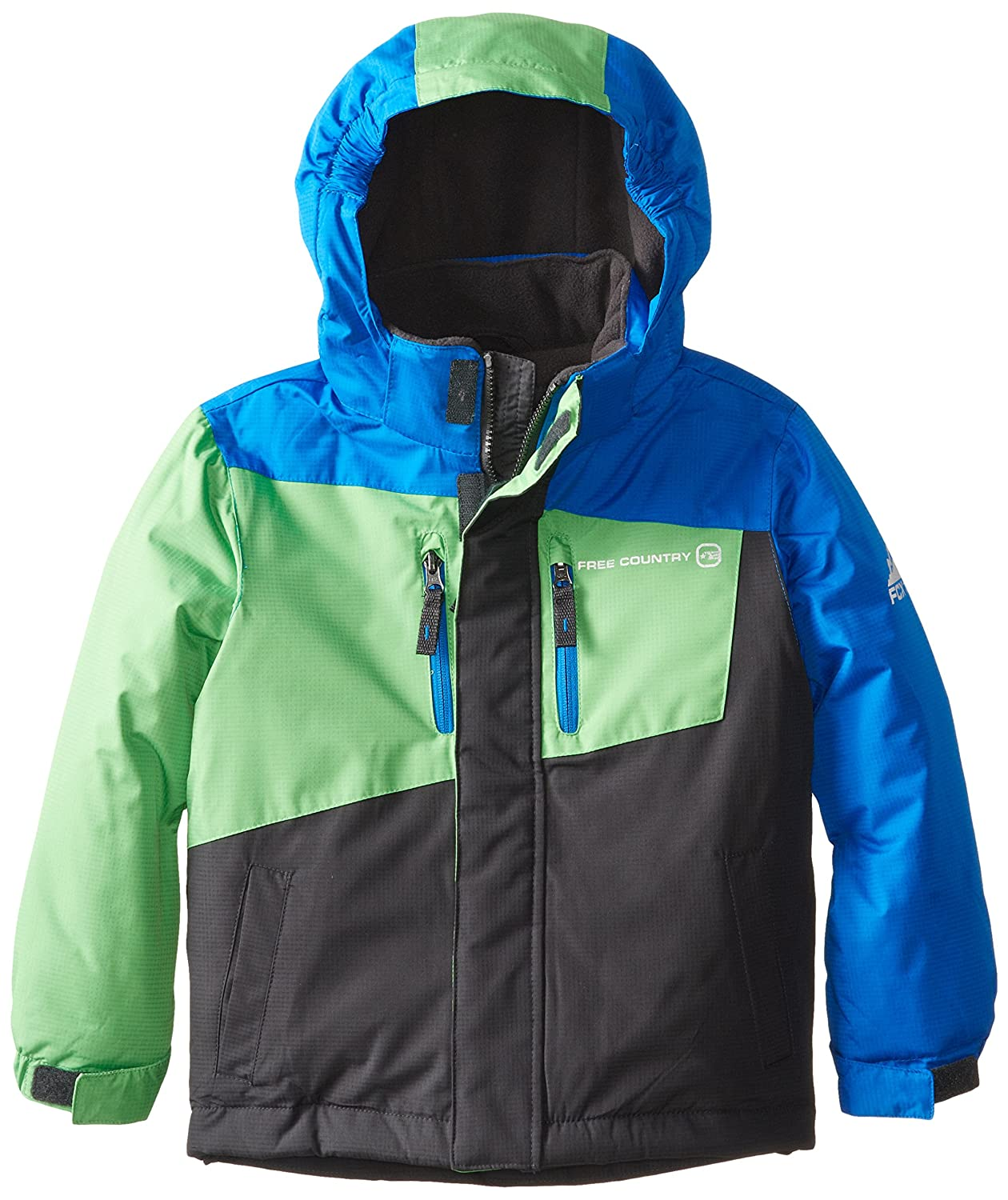 Free Country Little Boys Color-Block Boarder Winter Coat Free Country Boys 2-7 90-H4232