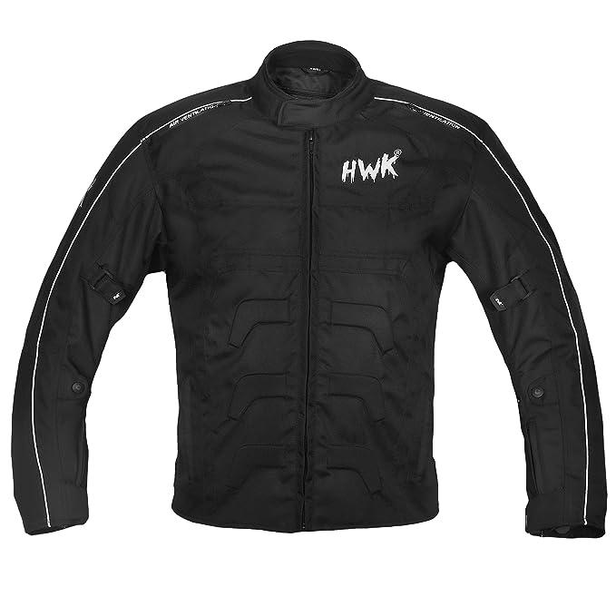 HWK Chaqueta para moto, 100 % impermeable, protección certificada CE, de cordura: Amazon.es: Coche y moto