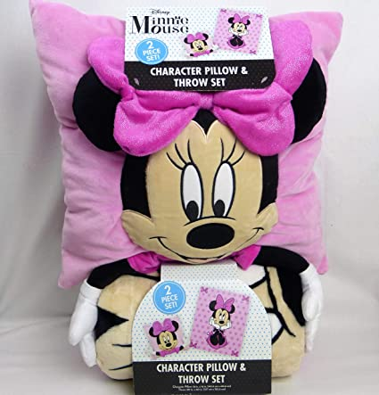 Pillow And Throw Set.Amazon Com Character Pillow Throw Minnie Mouse Set Open
