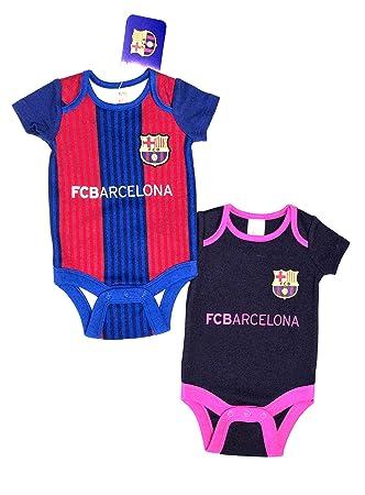 F.C. Barcelona - Juego de 2 bodys, talla de 6 a 9 meses, producto