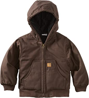 6 Months Carhartt Brown Carhartt Baby-boys Infant Active Quilted Flannel Lined Jacket
