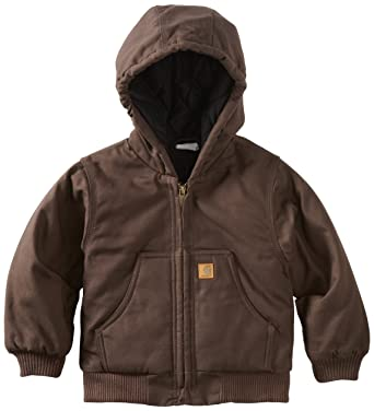 c6b2600a0 Amazon.com  Carhartt Baby Boys  Active Quilted Flannel Lined Jacket ...