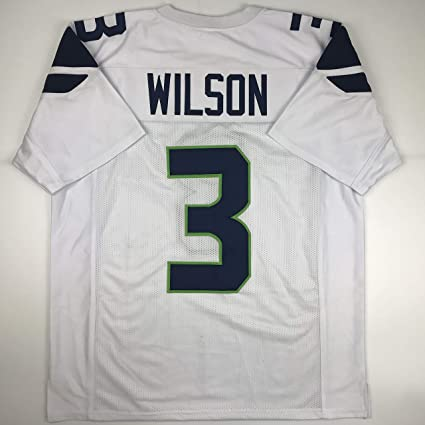 check out 9ca10 6e388 Amazon.com: Unsigned Russell Wilson Seattle White Custom ...