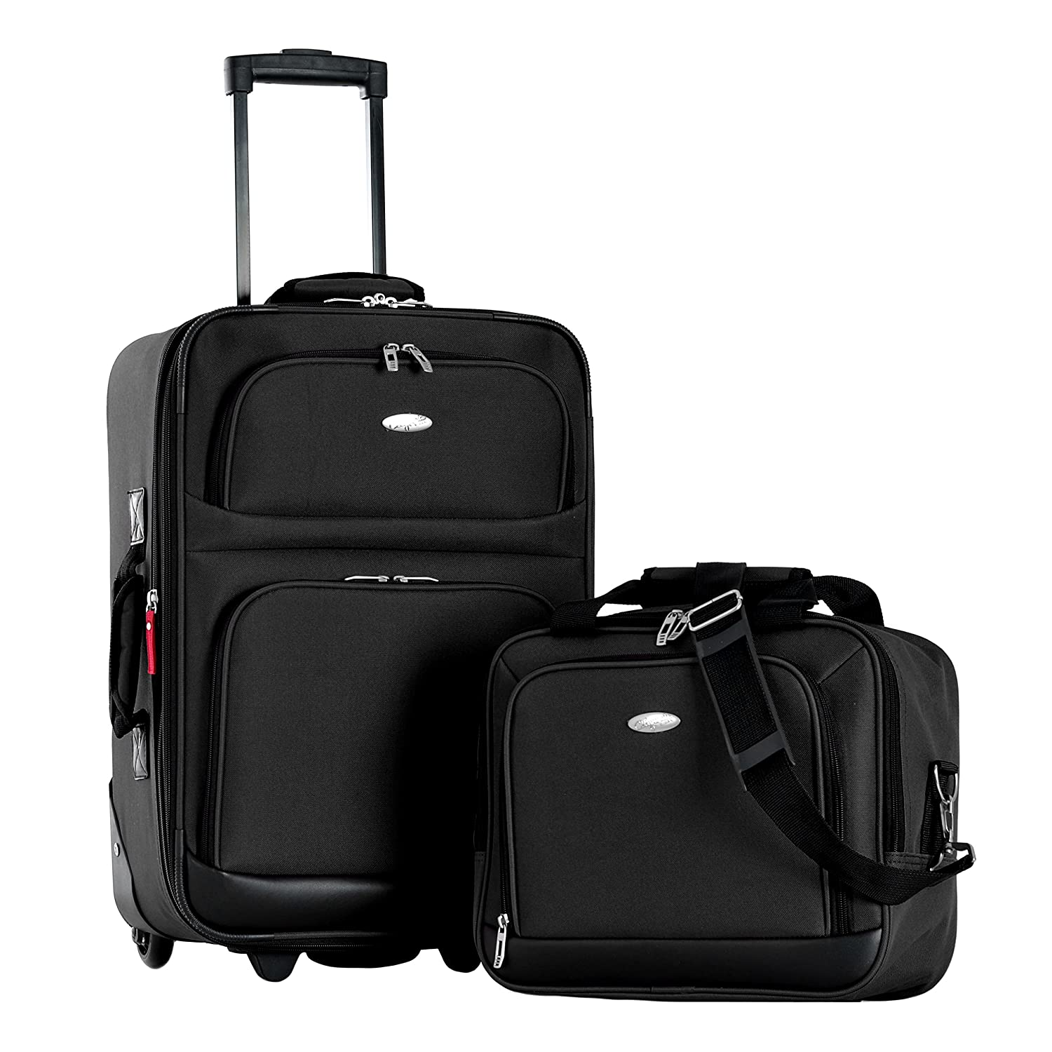Amazon.com | Olympia Let's Travel 2 Piece Carry-On Luggage Set ...