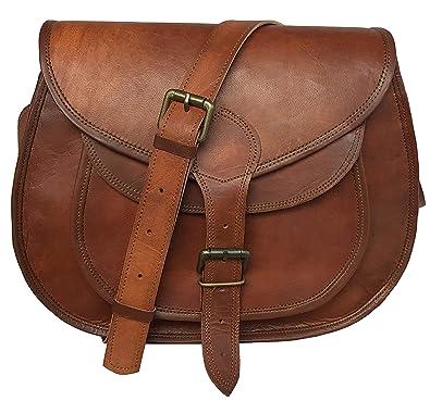 95e475d49f0f9 Amazon.com: cuero 14 Inch Leather Crossbody Satchel Ladies Purse Women  Shoulder Bag Tote Travel Purse Genuine Leather (brown): Shoes