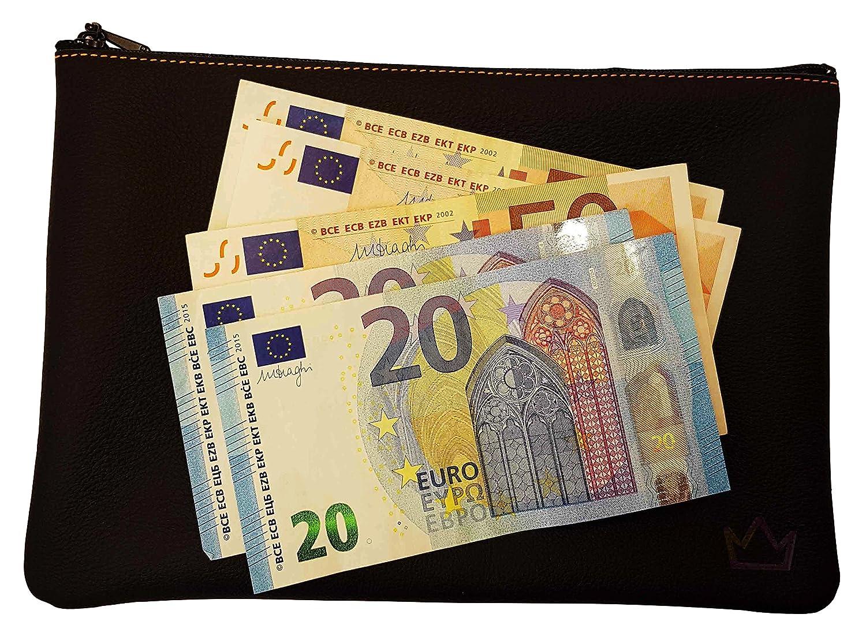 Lederprinz® | La bolsa de banco Negro | genuina de cuero cartera de señora | Made in Germany | napa: Amazon.es: Oficina y papelería