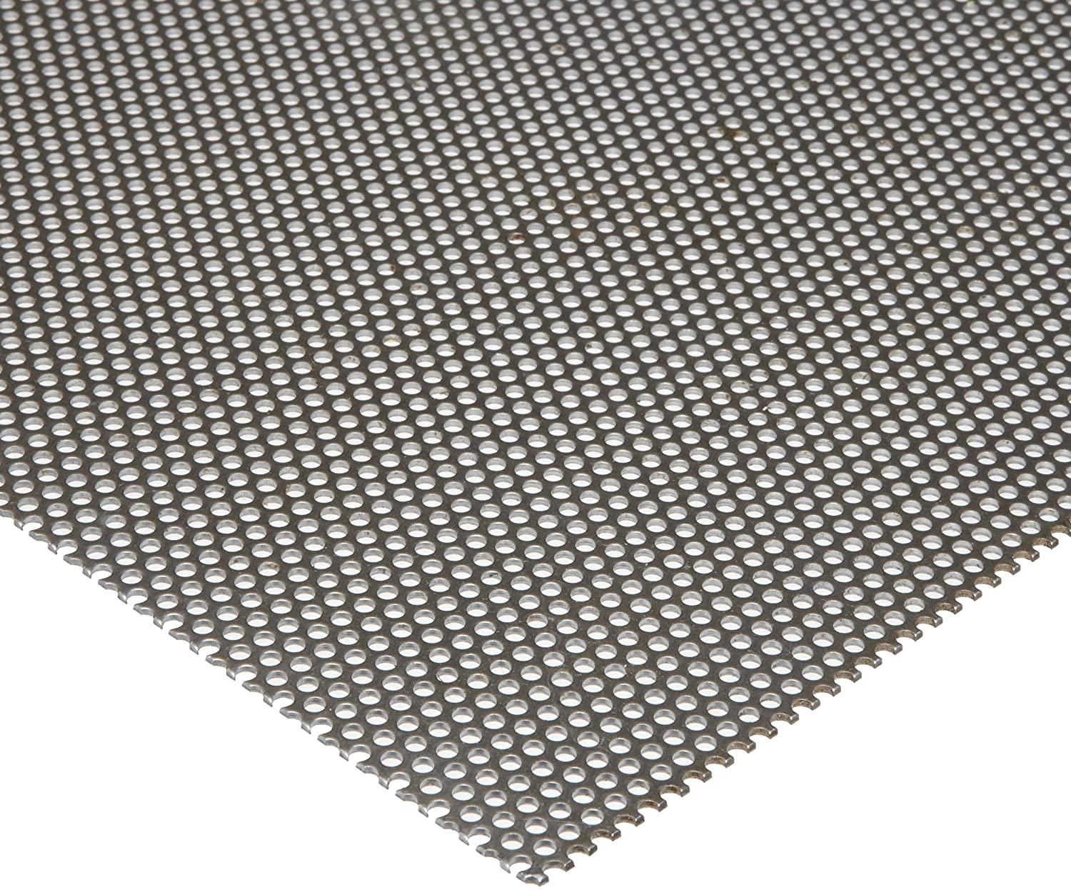 Unpolished Staggered 0.1875 Holes 0.036 Thickness Hot Rolled ASTM A36 Mill 0.25 Center to Center A36 Steel Perforated Sheet 12 Width 24 Length 20 Gauge Finish
