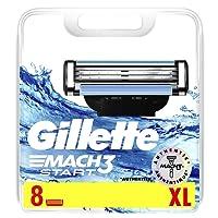 Gillette Mach3 Start Men's Razor Blades, 8 Refills