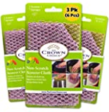 The Crown Choice Non-Scratch Heavy Duty Scouring Pad or Pot Scrubber Pads (6 PCs) | for Scouring Kitchen, Dishwashing…