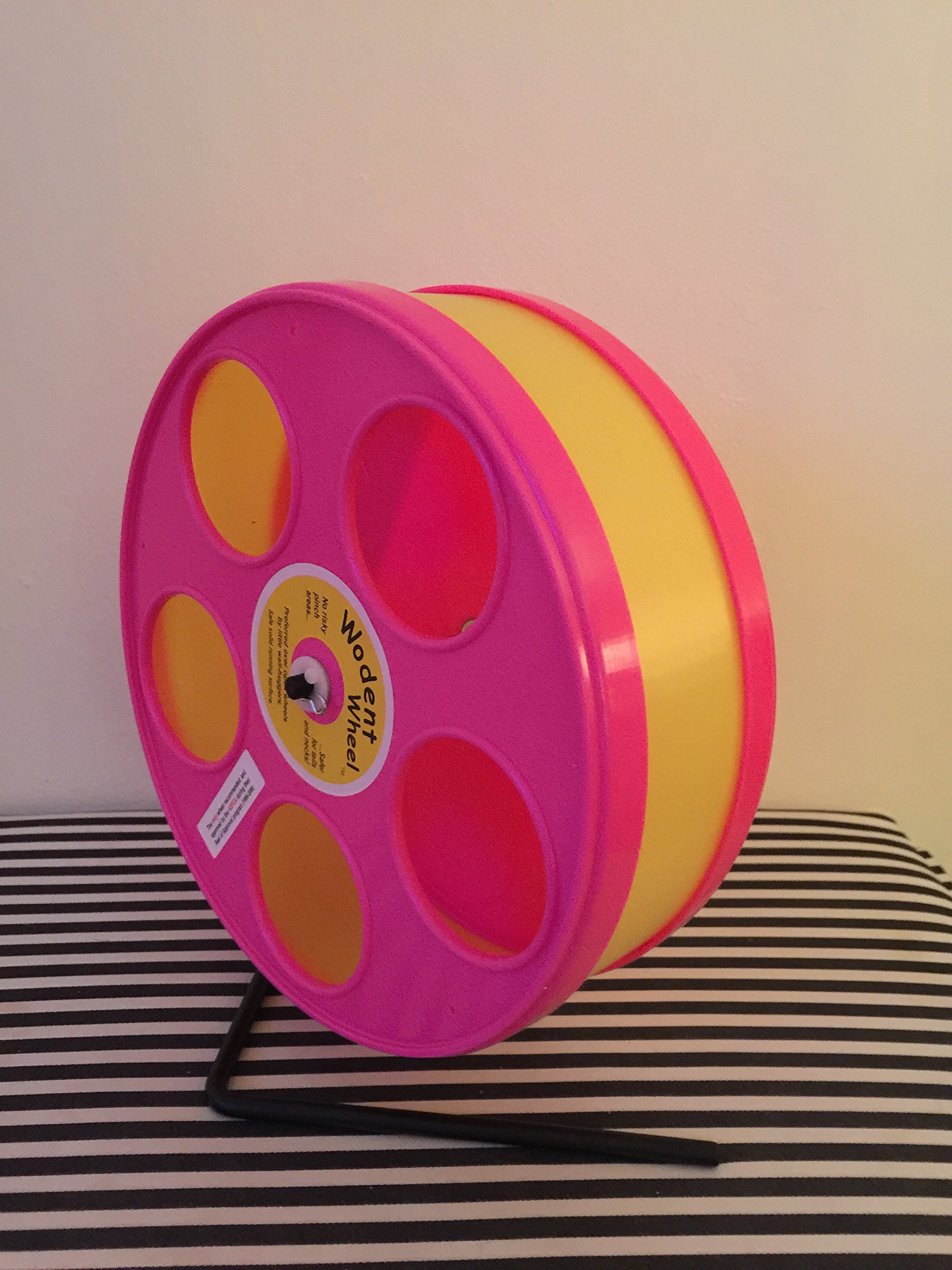 8'' Wodent wheel - Pink Panels With Yellow Running Track