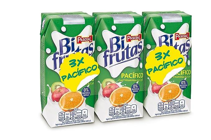 Bifrutas - Zumo de frutas pacífico y leche- 3 x 330 ml