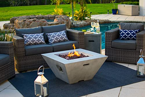 34″ Outdoor Propane Gas Fire Pit Table Square Bowl