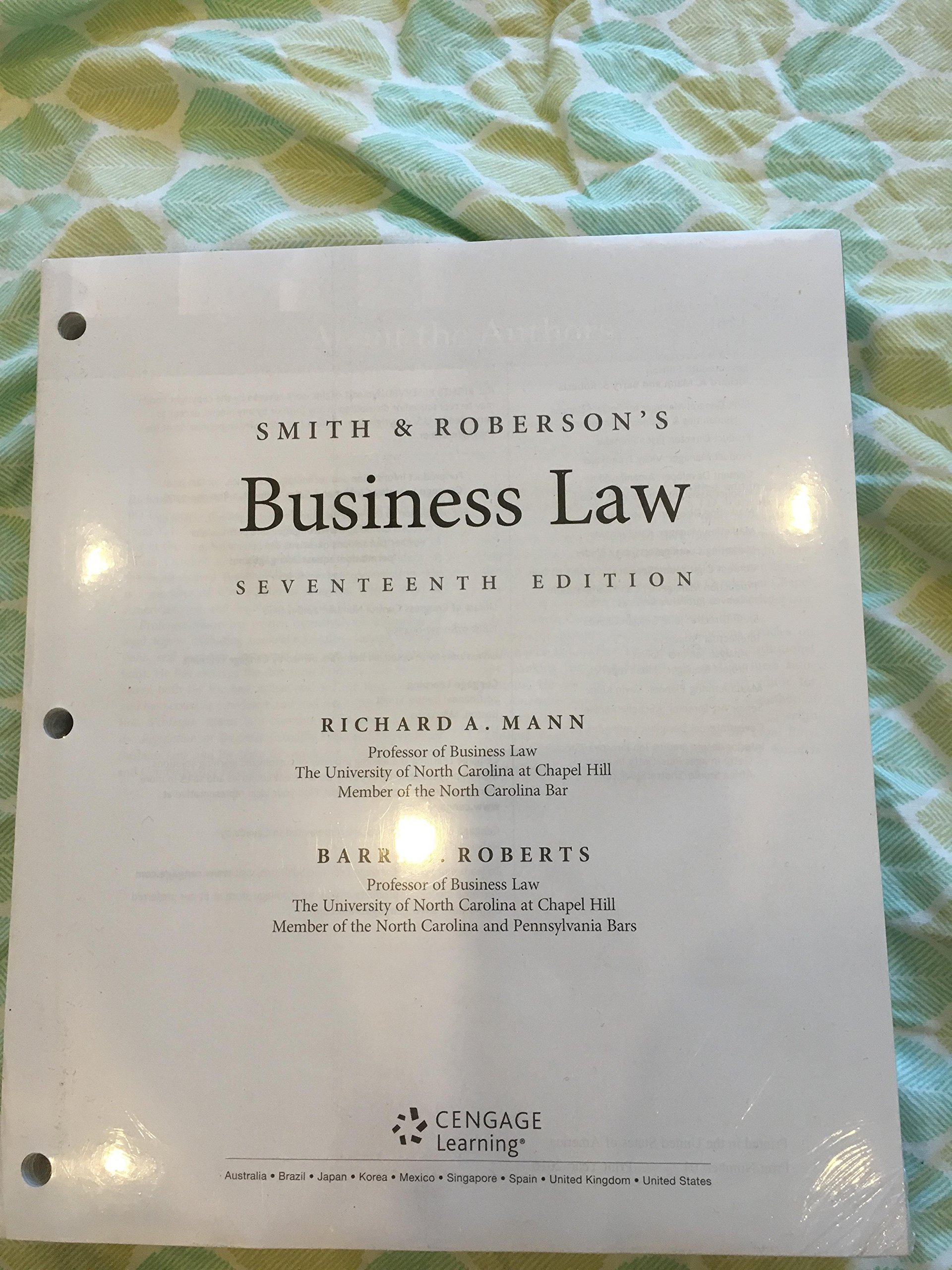 Smith and Robersons Business Law