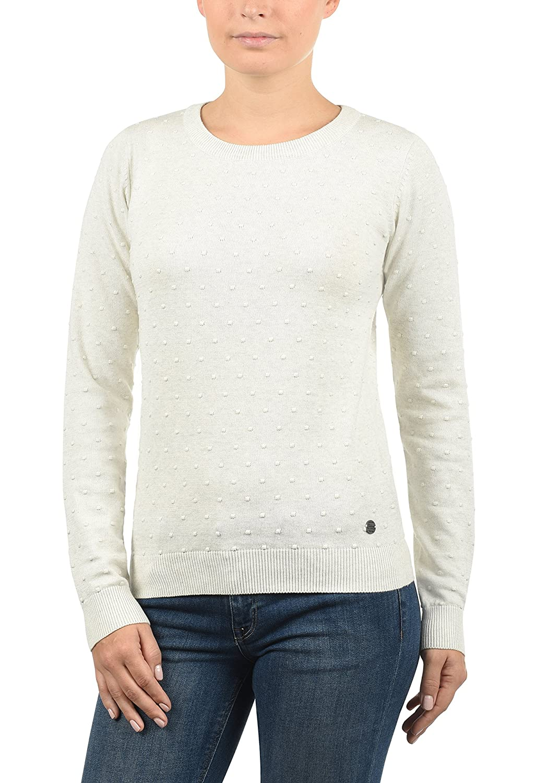 9cde163d6111 DESIRES Kiki Damen Strickpullover Feinstrick Pullover Mit Rundhals Aus 100 %  Baumwolle