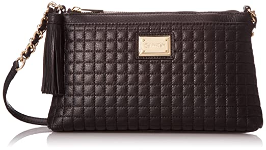 Calvin Klein Calvin Klein Quilted Pebble Cross Body Bag, Black ... : calvin klein quilted purse - Adamdwight.com