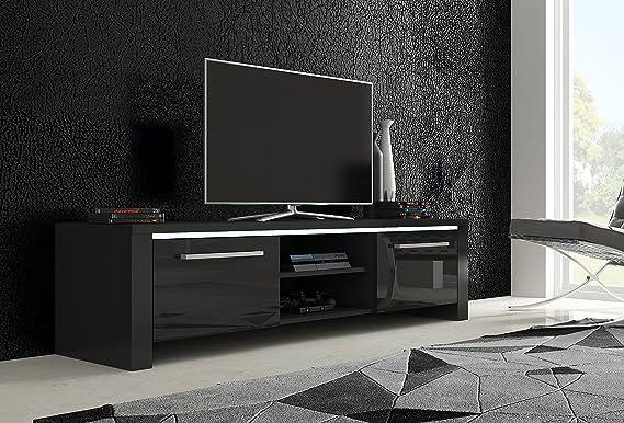 Selsey Poland Soporte de TV Orlando/opción de LED/ – Mueble de TV/TV Mesa/TV Unit (Sonoma/Blanco Brillante): Amazon.es: Hogar