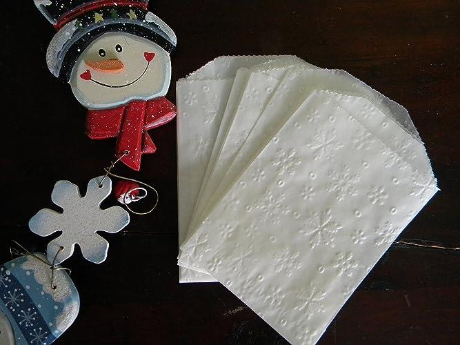 snowflake glassine bags wax food bags christmas treat bags wedding favor bags - Christmas Wedding Favors