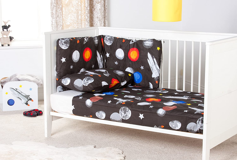 Ready Steady Bed Galaxy Design Nursery Cot Bumper Bedding Set