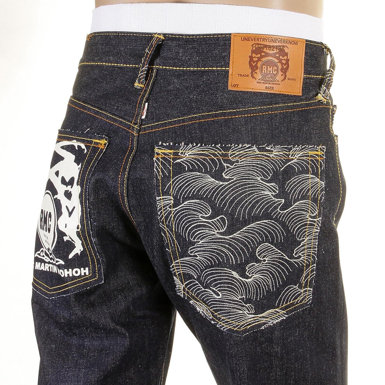 RMC Martin Ksohoh White Painted Logo 1001 Slim fit Jeans REDM0444