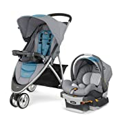 Chicco Viaro Quick-Fold Travel System, Coastal