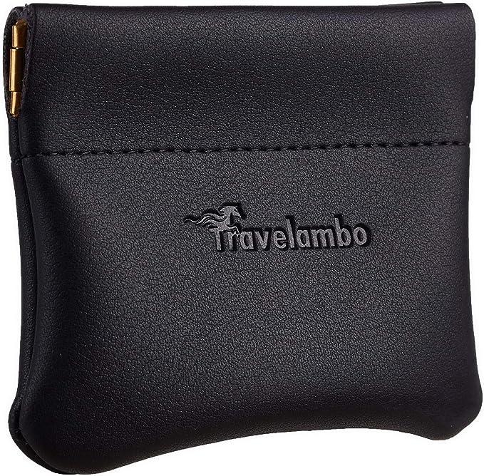 Amazon.com: Travelambo - Monedero de piel para hombre y ...