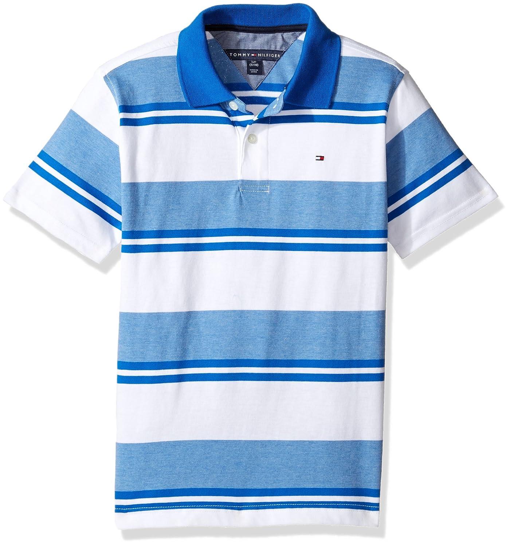 Amazon Tommy Hilfiger Boys Big Short Sleeve Striped Polo Shirt