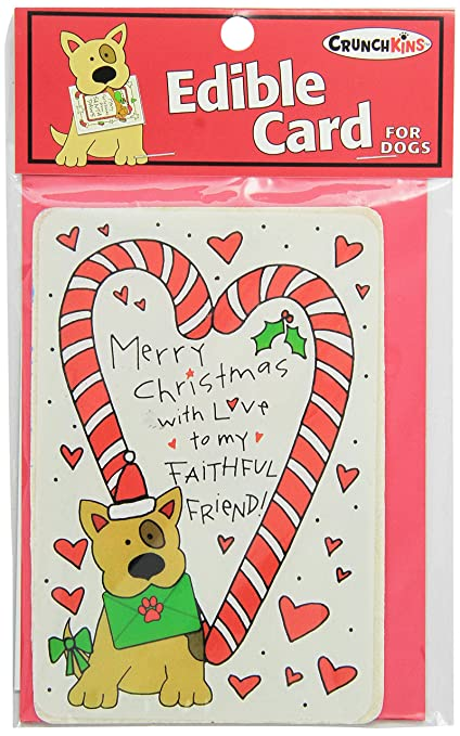 crunchkins crunch edible card merry christmas faithful friend