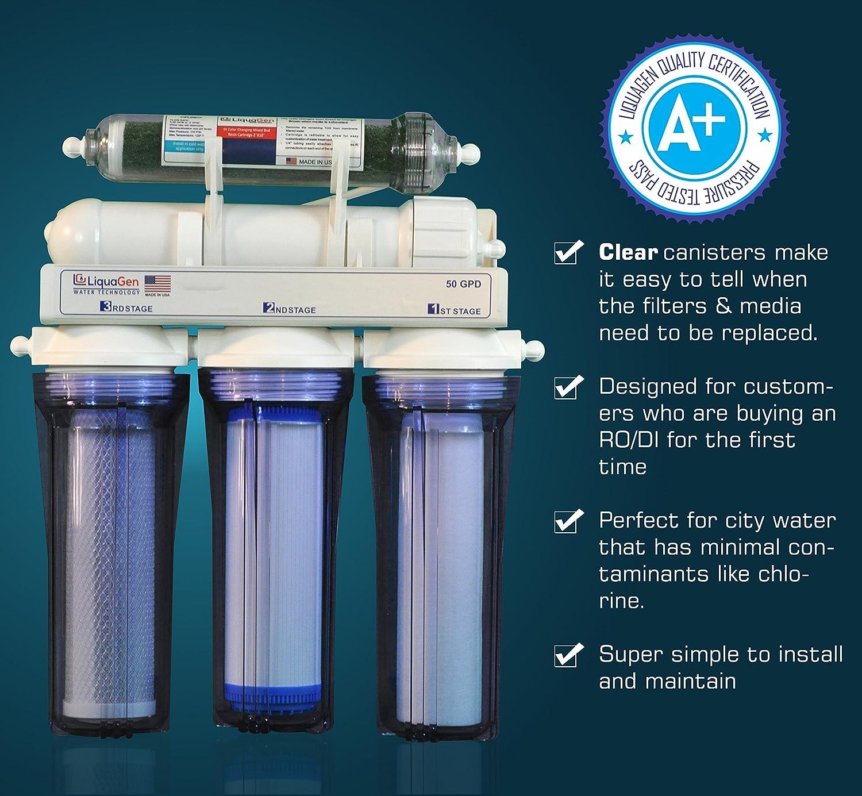 Amazon LiquaGen 5 Stage Reverse Osmosis Deionization RO DI