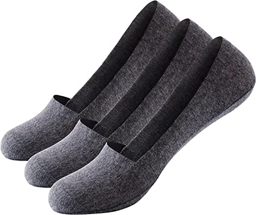 Men No Show Socks 10 Pairs Cotton Low Cut Loafer Casual Non-Slip Socks for Women