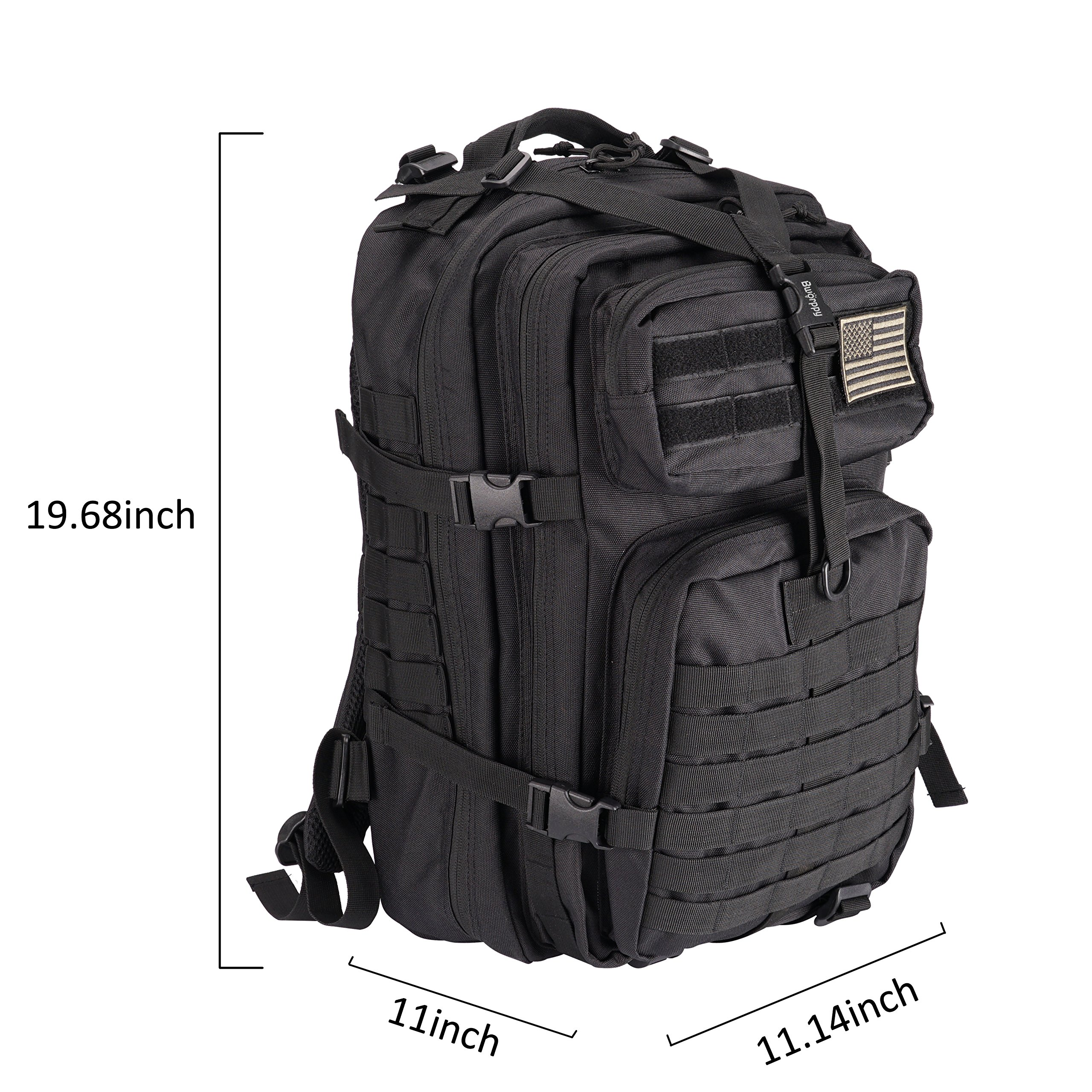 Bworppy Military Tactical Backpack, 40L Outdoor Rucksack, Waterproof 900D Oxford Fabric Assault Pack for Outdoor Hiking Camping Trekking Hunting by Bworppy (Image #2)