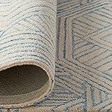 Rivet Geometric Wool Area Rug, 5 x 8