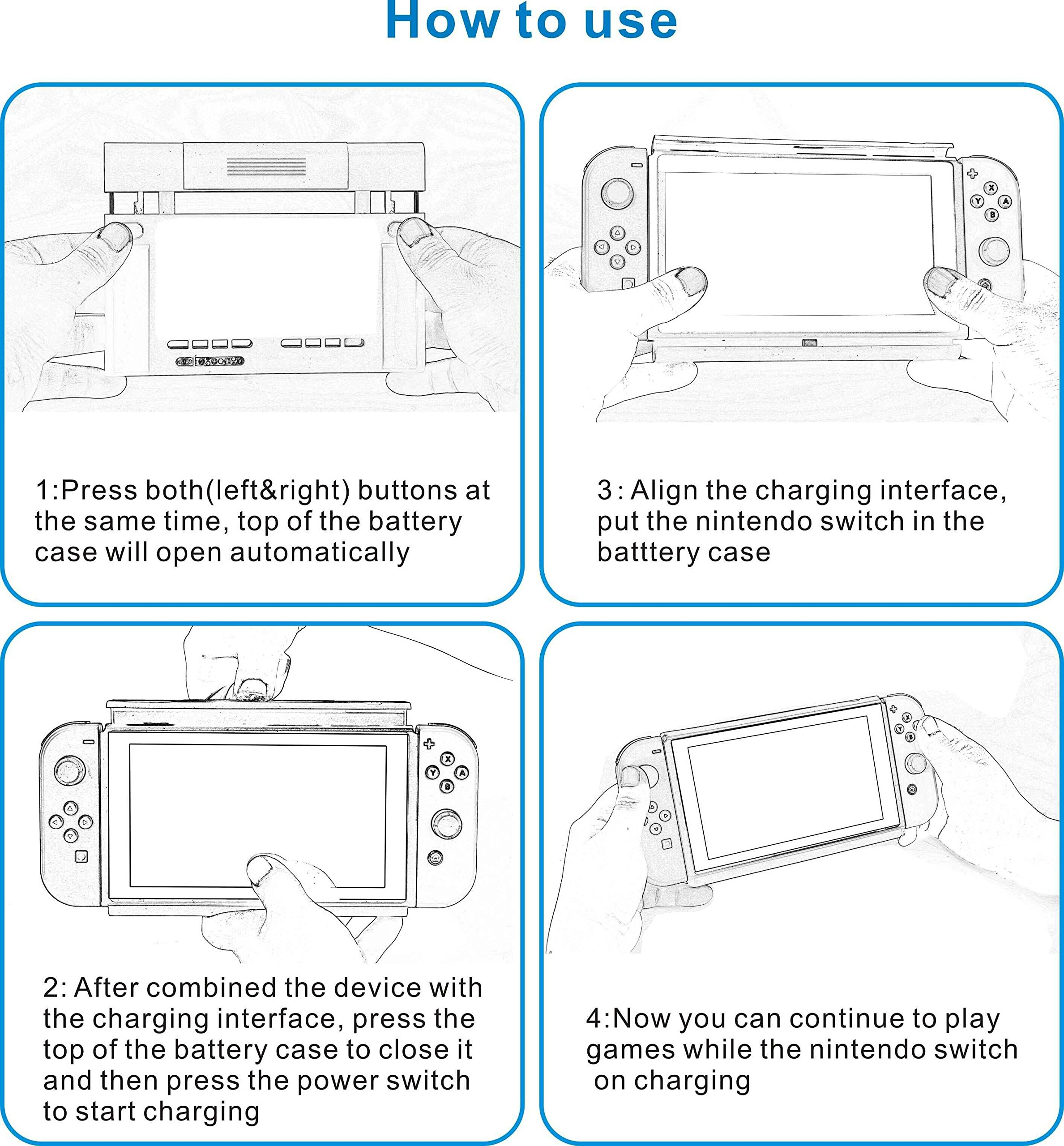 100% authentic 42674 27151 Nintendo Switch Charge Stand with 6500mAh Battery Case - Unboxed