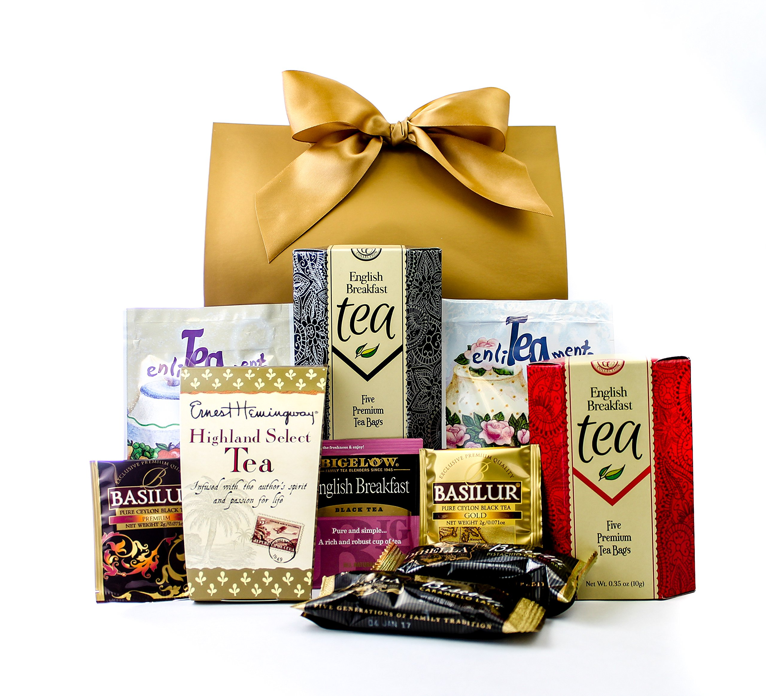 Gourmet Tea Lovers Gift Purse With Bow By Gifts Unlimited