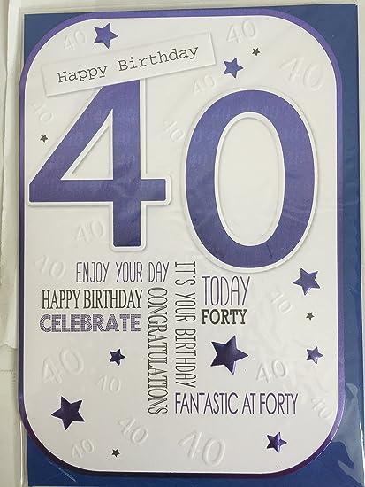 Para hombre macho 40th Tarjeta de felicitación de cumpleaños ...
