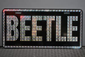 RETRO 1970'S PRISM BEETLE METAL LICENSE PLATE 6 X 12 TAG FITS VW VOLKSWAGEN BUG BAJA DUNE BUGGY CUSTOM VINTAGE CLASSIC CAR ANTIQUE MUSEUM COLLECTION GARAGE SHOP NOVELTY FUN SURF GIFT WALL ART SIGN