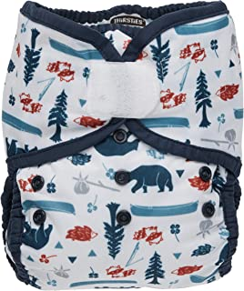 product image for Thirsties Duo Wrap Cloth Diaper Cover, Hook and Loop Closure, Adventure Trail Size Two (18-40 lbs)