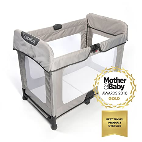 save off c0926 107fd Spacecot - Baby/Toddler/Child, Easy Fold, Lightweight Travel Cot - Stone