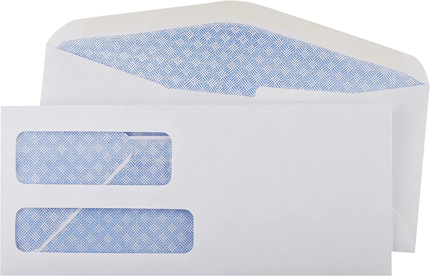 Basics #9 Double Window Security Tinted Envelopes, White, 500 ct : Office Products