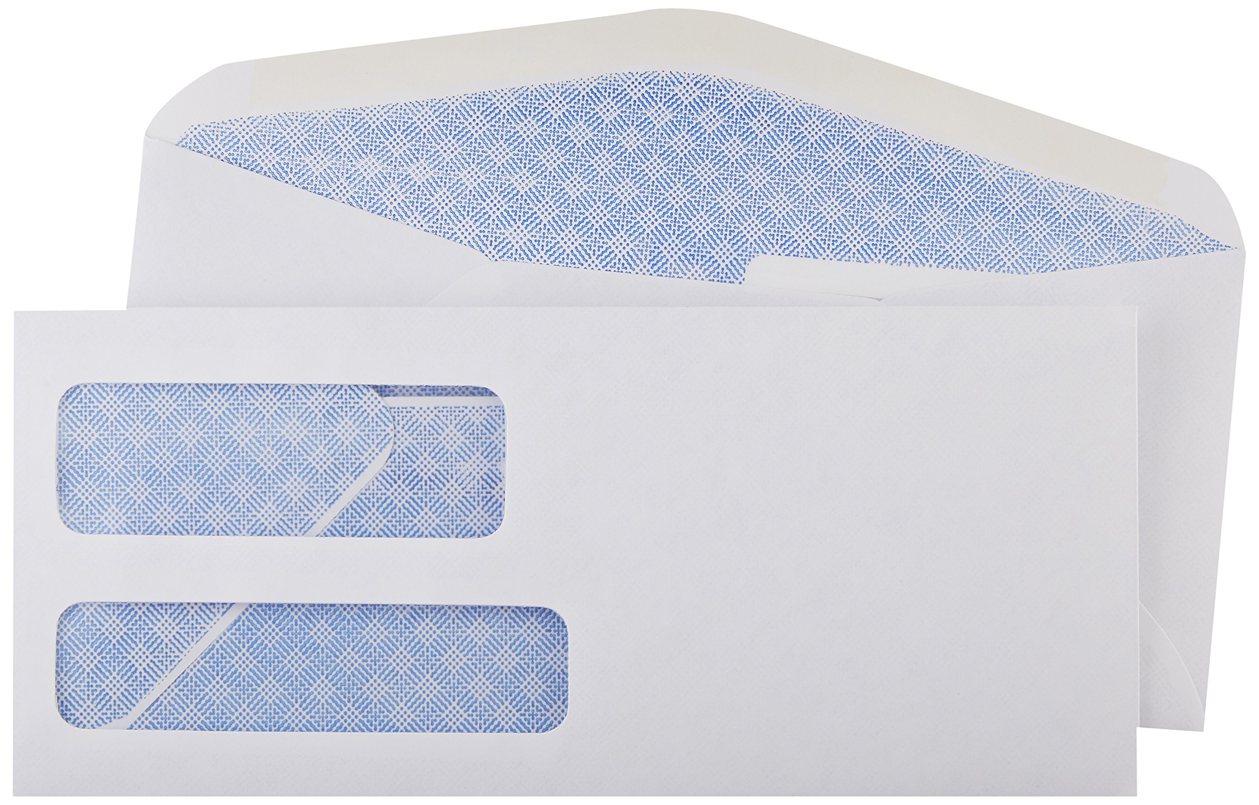AmazonBasics AMZ92W #9 Double Window Envelopes, White, 500 ct