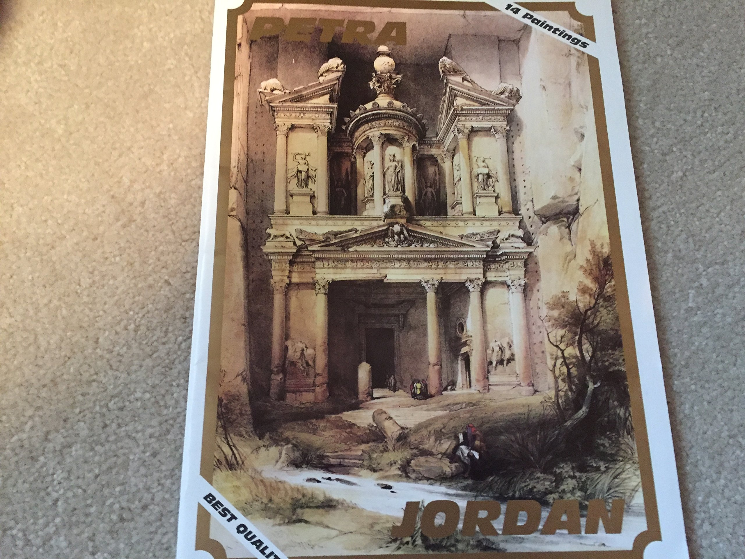 PETRA ... The Complete Collection of David Roberts Lithographs of Petra 1839 ... David Roberts ... 14 Lithographs in Folder ... 9.25'' x 12.5'' ... Great for Framing