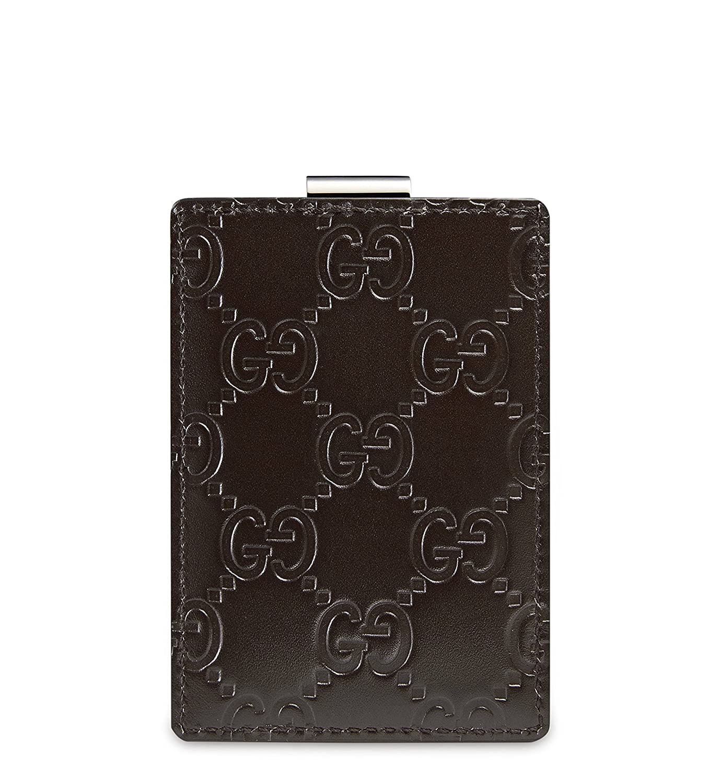 Gucci Signature Guccissima Leather Money Clip, Brown 115268 at ...