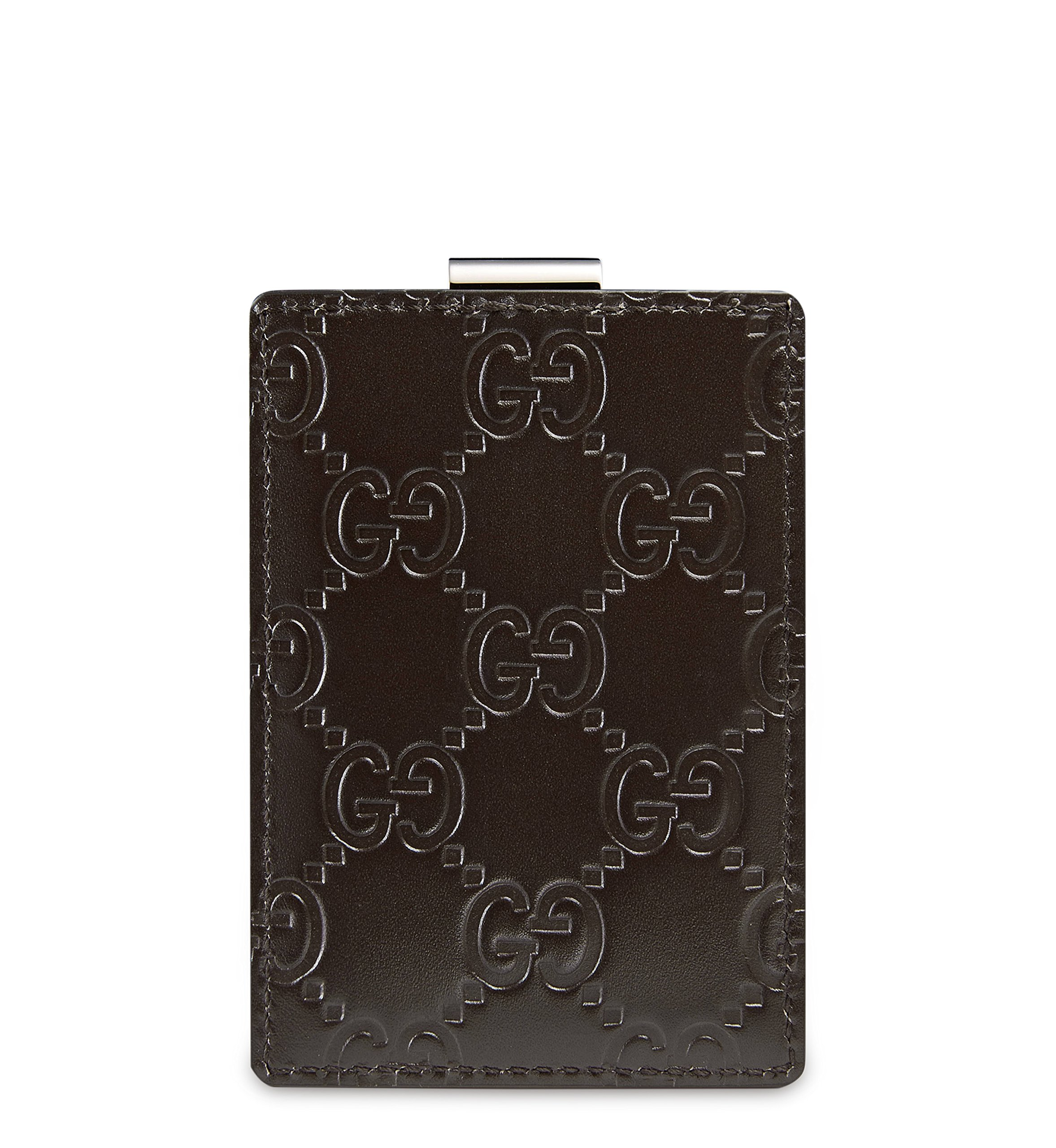 Gucci Signature Guccissima Leather Money Clip, Brown 115268