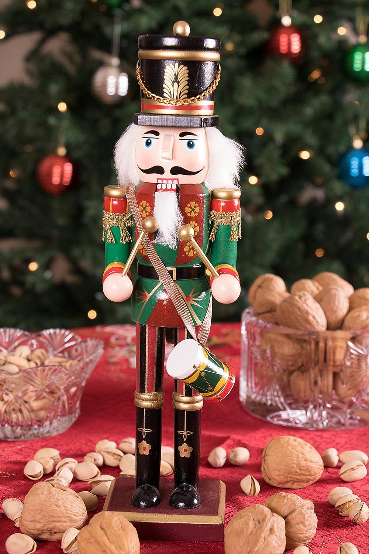 Nutcracker With Drum 30cm Wooden Nutcracker Christmas Decorations