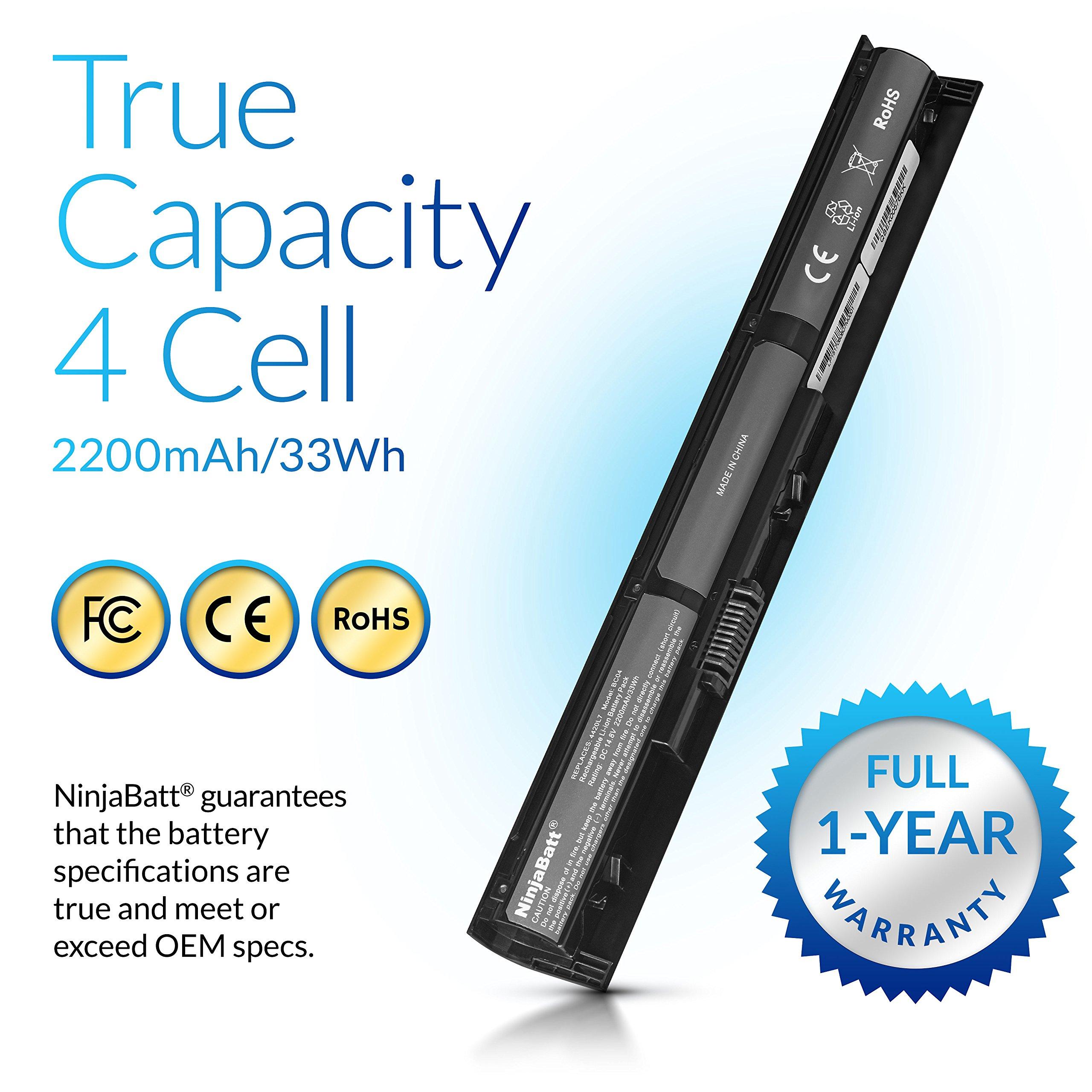 NinjaBatt Laptop Battery for HP VI04 756743-001 756745-001 756744-001 756478-851 ProBook 440 G2 450 G2 756478-421 756478-421 756478-422 756479-421 HSTNN-LB6I Envy 14 15 17 - [4 Cells/2200mAh] by NinjaBatt (Image #4)