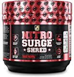 NITROSURGE SHRED Pre Workout Fat Burner Supplement - 30 Servings, Orange Pineapple Flavor 8.5 oz