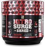 NITROSURGE SHRED Pre Workout Fat Burner Supplement - 30 Servings, Orange Pineapple Flavor 8.5 oz