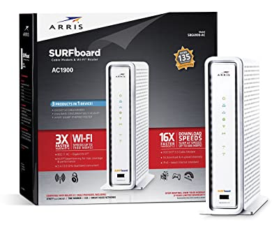 ARRIS SURFboard SBG6900AC DOCSIS 3.0 Cable Modem/ Wi-Fi AC1900 Router - Retail Packaging