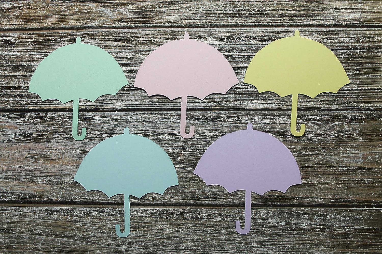 Umbrella Bottle or Carriage Pastel Colors Onesie 12 Baby Themed Die Cuts Bib