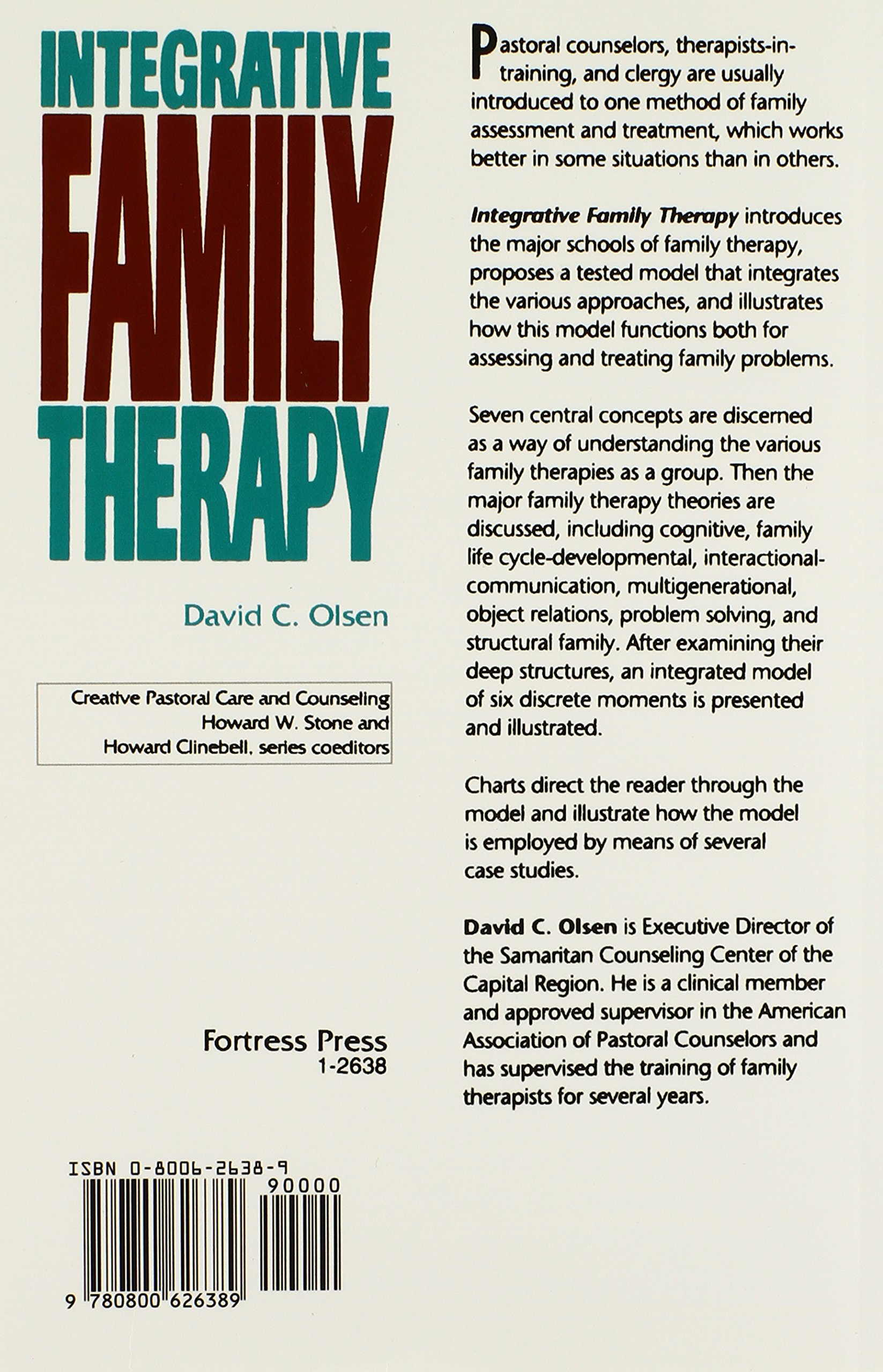 Integrative family therapy creative pastoral care and counseling and counseling creative pastoral care counseling creative pastoral care counseling series david c olsen 9780800626389 amazon books fandeluxe Image collections